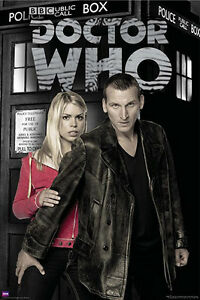 NEW-Dr-Who-BBC-9th-Doctor-amp-Rose-Tyler-Christopher-Eccleston-Wall-Poster-61-x-91