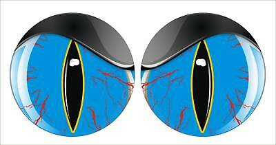 SHOTGUN INTAKE HOOD SCOOP RED SNAKE EYES DECALS PAIR
