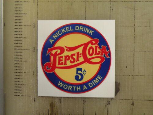 "Vintage Pepsi sticker decal sign 3/"" diameter"