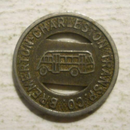 Bremerton transit token Washington WA80F Charleston Transportation Co.