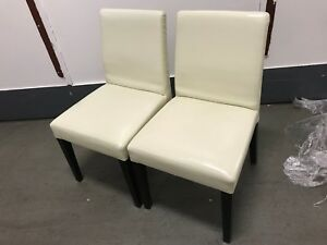 Image Is Loading Off White Leather Chairs Perfect For Sitting