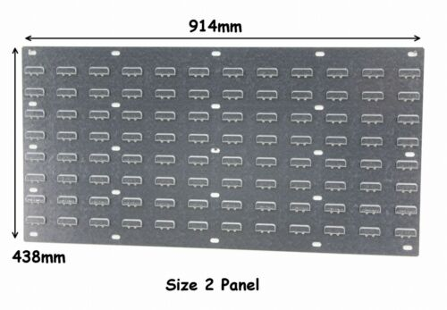 NEW Steel Louvre Wall Panel for Plastic Parts Storage Bins 438 x 914mm Free P/&P