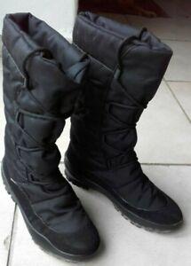 Apres-ski-chaussures-fourrees-femme-pointure-39-noires-JTex
