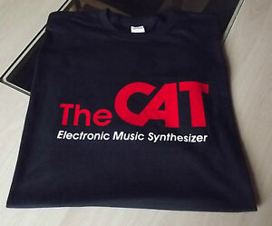 RETRO-SYNTH-SYNTHESIZER-OCTAVE-THE-CAT-T-SHIRT-DESIGN-S-M-L-XL-XXL
