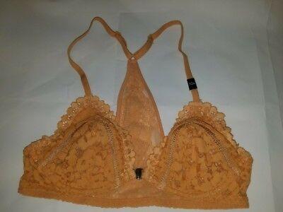 Victoria/'s Secret PINK Orange Tie Dye Lace Padded Racerback Bralette XS 32A-C A1