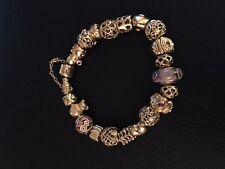 Pandora 14K Gold Charm Bracelet with 20 14K Gold Charms