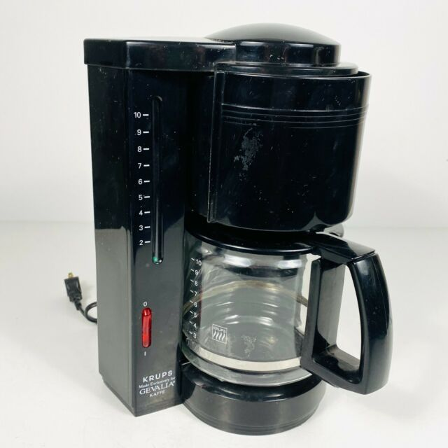 Gevalia Kaffe x Krups Type 396 10 Cup Drip Coffee Maker Black Glass Plastic