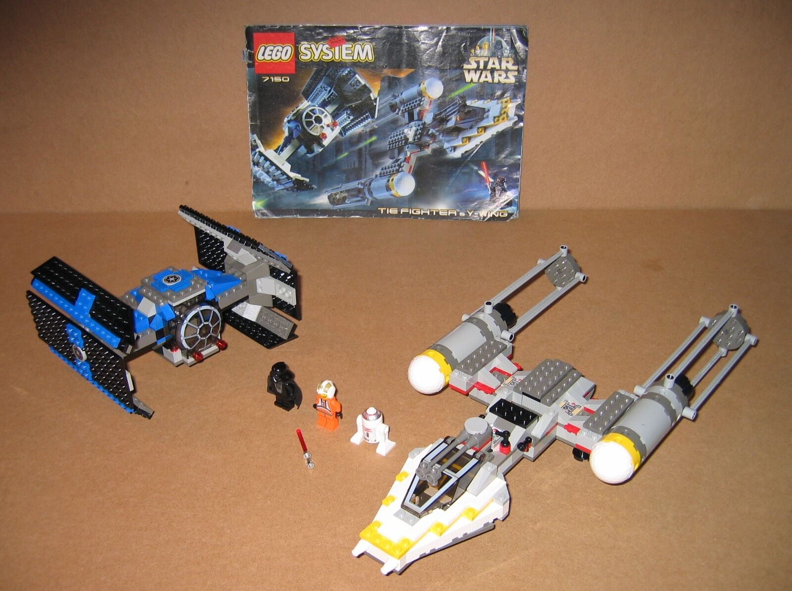7150 LEGO TIE Fighter & Y-Wing – 100% Complete w Instructions EX COND 1999