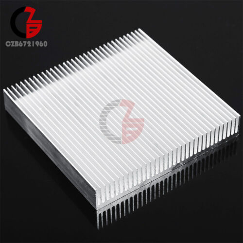 Aluminum Heat Sink Cooling For LED Power IC Transistor DC Converter 90x90x15mm