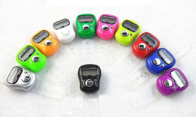 Stitch Marker and Row Counter LCD Electronic Digit Tally Counter