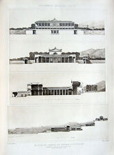 35 ~ MACELLUM OF POZZUOLI PUTEOLI ~ Old 1905 Roman Architecture Detail Art Print