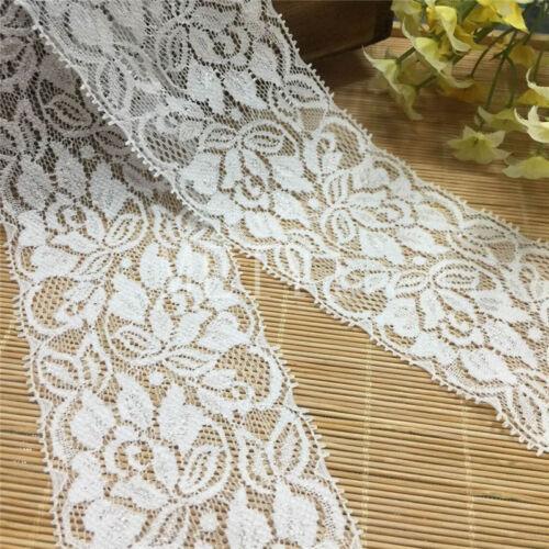 6yd Vintage Embroidered Lace Edge Trim Ribbon Wedding Applique DIY Sewing Craft