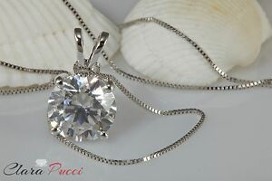 2-0Ct-Round-Cut-14K-White-Gold-Solitaire-Pendant-Necklace-Box-With-18-034-Chain