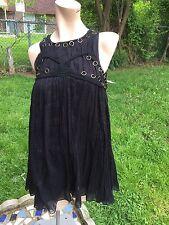 New Free People Black Trapeze Slip Tunic Dress sz.XS 100% Cotton