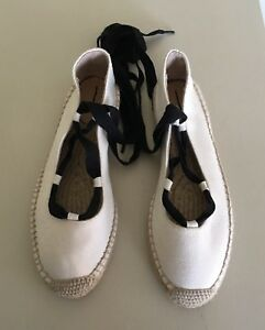 J.crew Damens's Canvas Lace up Fresh Espadrilles In Fresh up Cream Größe 8 ... 6b620d