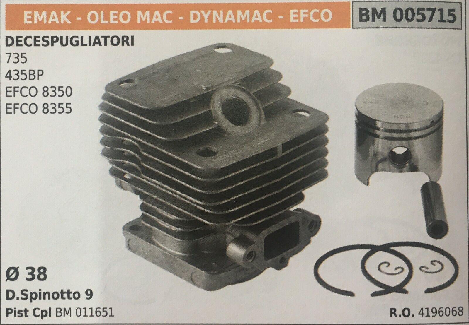 Cilindro Completo por Pistón y Segmentos Brumar BM005715 Emak-Oleo Mac y Otros