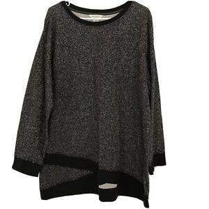 Liz-Claiborne-Weekend-Black-Sparkly-Sweatshirt-Sweater-Plus-Size-1X-NWT