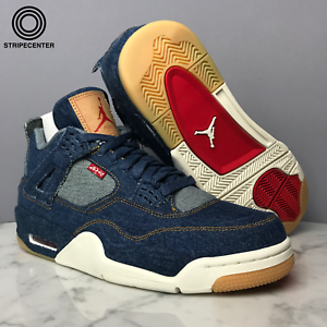 31978ebfa4cab0 AIR JORDAN 4 IV RETRO  LEVIS DENIM  - DENIM DENIM-SAIL-GAME RED ...