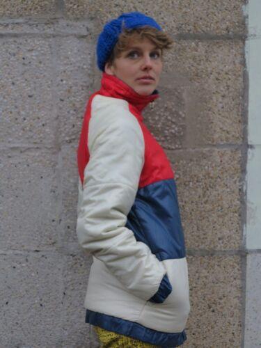 Blanco Rojo Anorak 90s Azul 90s Chaqueta Blanco Rojo Acolchado Chaqueta True Vintage Azul gwqnEq7xCH
