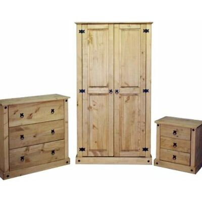 Corona 3 Piece Bedroom Furniture Package Mexican Solid Pine Mercers Furniture®