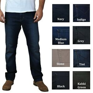 Men-039-S-Ex-Store-straight-fit-jeans-casual-Regolare-resistente-all-039-acqua-W28-W50