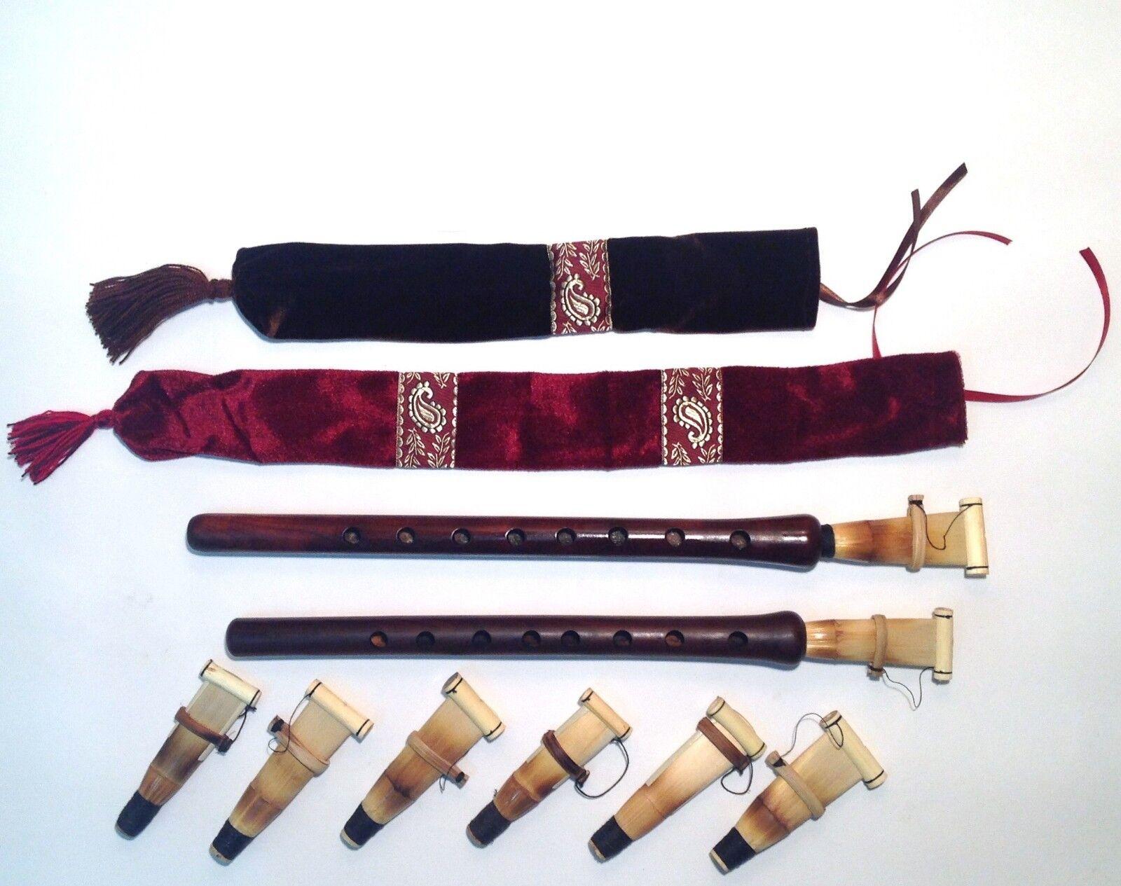 2 Profi Arménien DOUDOUK Duduk 8 reeds Flûte Case 2 CD fabriqué en Arménie Neuf
