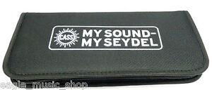 Seydel-New-Larger-Size-Harmonica-Case-Black-Nylon-Holds-14-Diatonic-Harmonicas