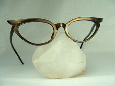 Vintage 60s Women's Swank Cat Eye Classic Mink Frame Optometry EyeGlasses 46-20