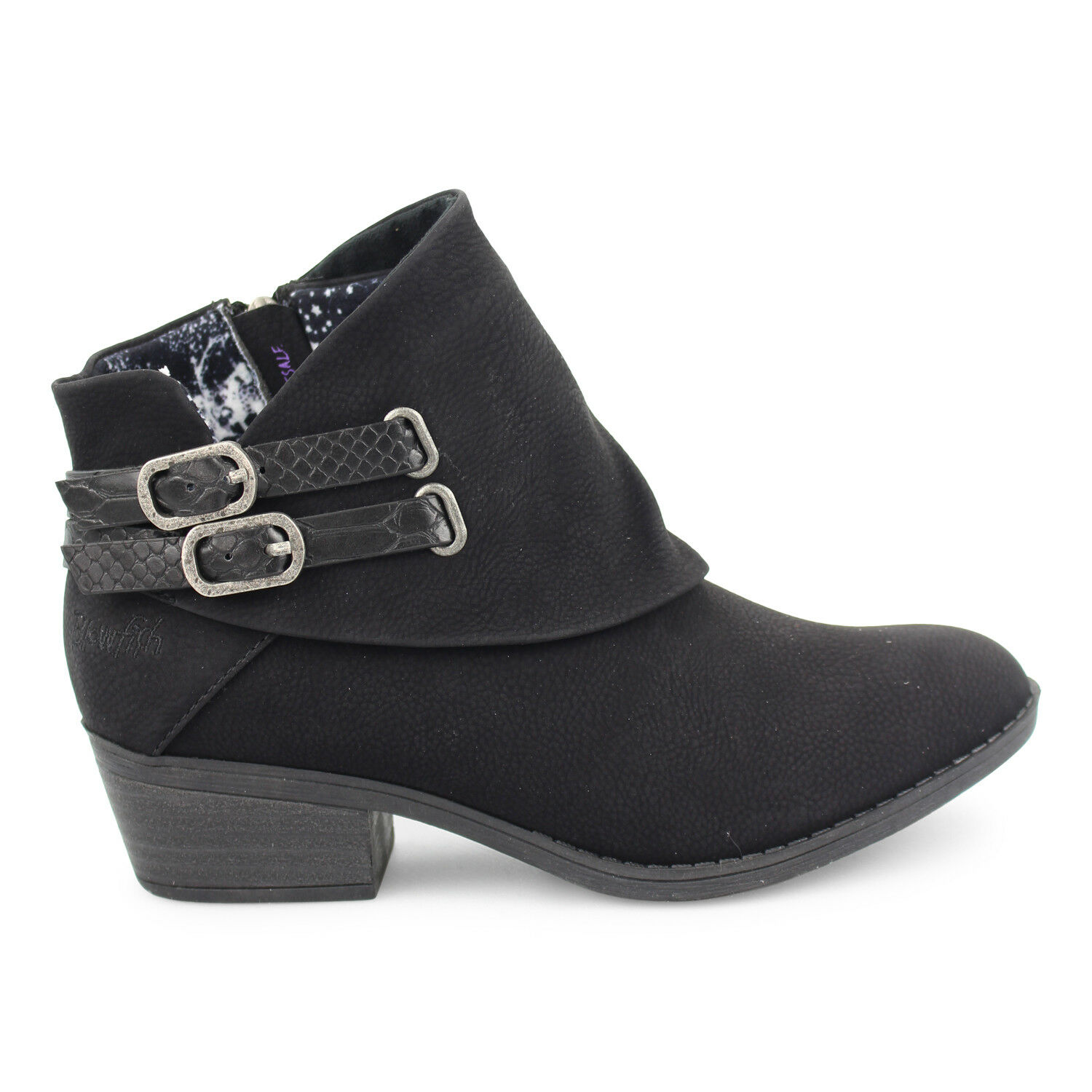 Blowfish Malibu Womens Womens Womens Sistee Ankle Boots Buckle Detail Zip Up Fashion shoes beddba