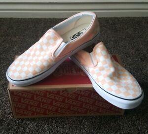 Vans Slip On Peach Orange Skate Shoe