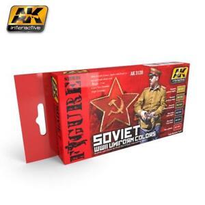 AK-Interactive-ACRYLIC-PAINT-SET-SOVIET-WWII-UNIFORM-6-COLOR-Set
