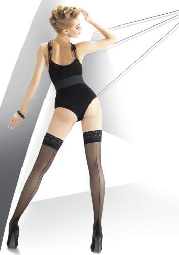 ANNES Exclusive Luxury 20 Denier Super Fine Lace Top Hold Ups 3 Colours