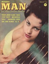 Modern Man February 1964 Jimmy Clark Collectible GLAMOUR JUNE PALMER WENDY LUTON