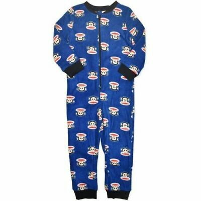New Paul Frank Licensed Warm Fleece Zip up Pyjamas PJs Sleepwear Boys 4-7 Blue