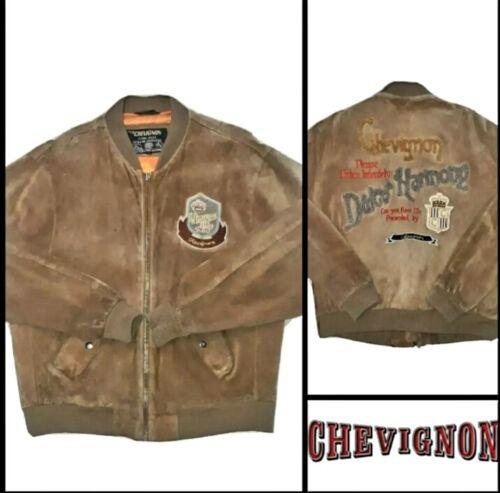 Charles Chevignon Veste en Cuir * cintre * Vintage