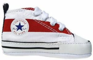 Details zu Converse First Star Stoff Schuhe Chucks Babyschuhe Kinderschuhe rotweiß 86421
