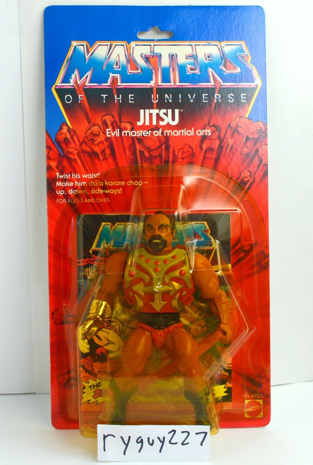 MOTU, Jitsu, Masters of the Universe, MOC, carded, figure, He Man, sealed, NIP