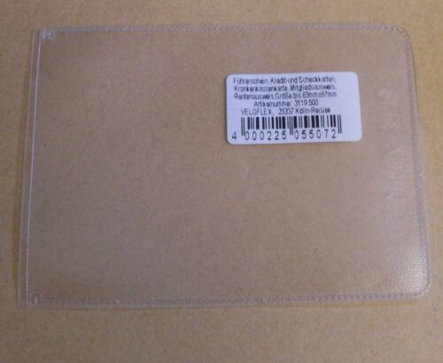3 Ausweishüllen Ausweisse Hüllen Veloflex A8 glatt PVC Neu Scheckkarte 6,5 x 9,1