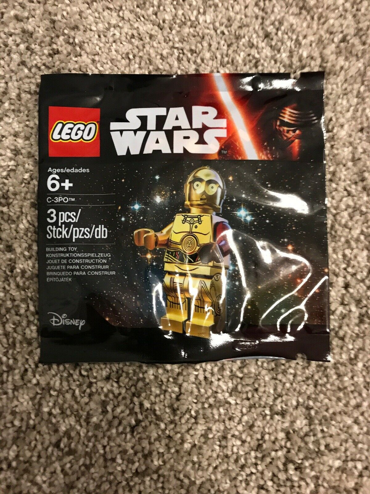 Lego Star Wars The Force Awakens Rare Red Arm C-3PO 5002948 New Polybag Promo