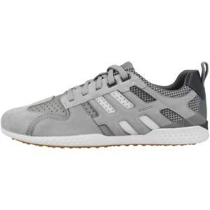 GEOX-U-SNAKE-2-A-Chaussures-Hommes-Sneaker-basses-lacets-Grey-u948da085bcc1303