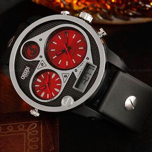 OHSEN-Mens-Military-Water-Proof-Day-Light-Red-50mm-Case-Digit-Quartz-Wrist-Watch