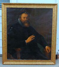 Large Antique Original 18th - 19th Century Bishop Duke Royalty Oil Painting