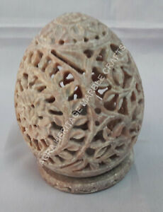 Details About 4 Soap Stone Marble Hand Carved Design Candle Holder Decorative Gift H4273