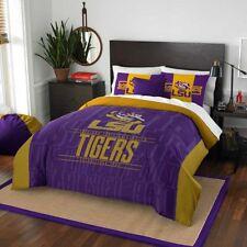 College Alumni Bedding Set NCAA Louisiana State Tigers Full Queen Twin//XL