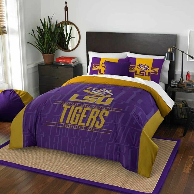 College Covers Louisiana State Tigers Reversible Comforter Set Twin