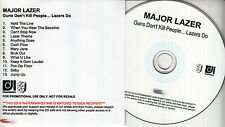 MAJOR LAZER Guns Don't Kill People Lazers Do UK 13-trk watermarked promo test CD