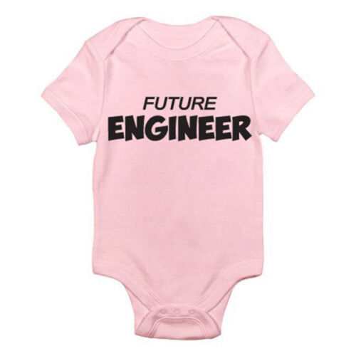 Novelty Themed Baby Grow Romper Engineering Science ENGINEER FUTURE