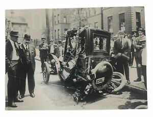 AAA-100-Years-of-Service-Automobile-Crash-Unposted-Vintage-Postcard