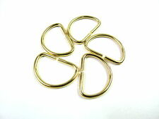 5 Brass D Ring Metal Rectangle Webbing Belt Ribbon Buckle DIY Bag Craft Handbag