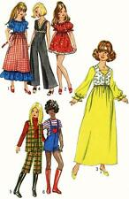 Vintage Doll Clothes PATTERN 9697 for 11.5 in Barbie Midge Gina Babs by Mattel